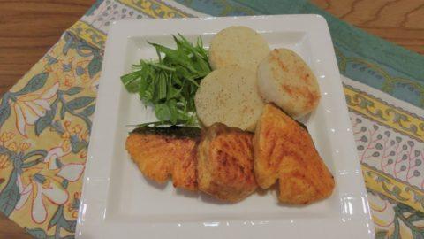 鮭と長芋のカレームニエル
