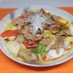 豚肉と白菜の柚子胡椒蒸し