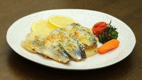 秋刀魚とじゃが芋のオーブン焼き