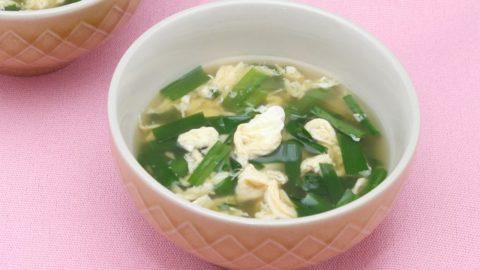 ニラと玉子のスープ