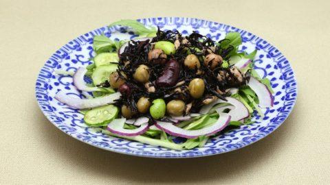 ひじきとお豆の和風サラダ