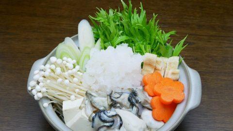 牡蠣と水菜のみぞれ鍋